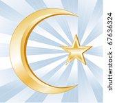 islam symbol  golden crescent... | Shutterstock .eps vector #67636324