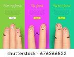 friendship day poster finger... | Shutterstock .eps vector #676366822