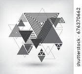 modern geometric background... | Shutterstock .eps vector #676370662