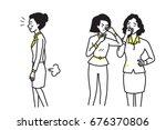 business woman farting make a... | Shutterstock .eps vector #676370806