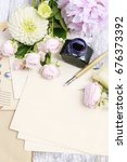 vintage stationery set and... | Shutterstock . vector #676373392