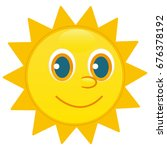 sun character  happy face | Shutterstock .eps vector #676378192