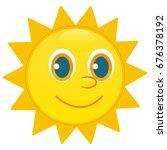 sun character  happy face | Shutterstock .eps vector #676378192