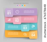 infographic template of four...   Shutterstock .eps vector #676378648