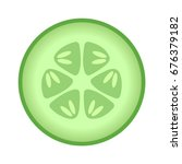 Cucumber Slice Cross Section...