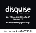 modern vector font on black... | Shutterstock .eps vector #676379536