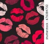 joyful vector seamless pattern... | Shutterstock .eps vector #676384732