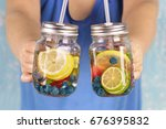 detox. healthy eating  drinks ... | Shutterstock . vector #676395832