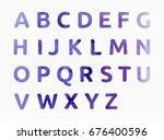 watercolor alphabet. color hand ... | Shutterstock .eps vector #676400596
