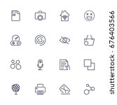 simple web icons set. universal ...