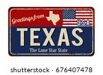 greetings from texas vintage... | Shutterstock .eps vector #676407478