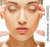 beautiful health woman face...   Shutterstock . vector #67643332
