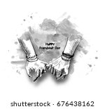 friendship day with holding... | Shutterstock .eps vector #676438162