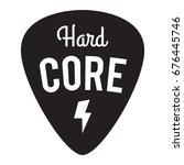 hard core music badge label.... | Shutterstock .eps vector #676445746