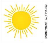 hand drawn cute shinny sun.... | Shutterstock .eps vector #676446652