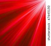 Red Luminous Rays. Eps 8 Vecto...