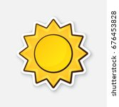 cute sun isolated on white... | Shutterstock .eps vector #676453828