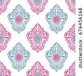 vector ornamental ethnic art ... | Shutterstock .eps vector #676456168