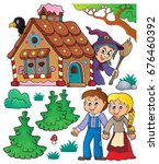 hansel and gretel theme set 1   ... | Shutterstock .eps vector #676460392