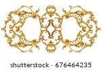 horizontal golden arabesque...   Shutterstock . vector #676464235
