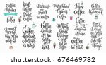 quote coffee cup typography.... | Shutterstock .eps vector #676469782