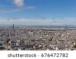 cityscape of paris at summer day | Shutterstock . vector #676472782