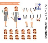 pupil character for your scenes.... | Shutterstock .eps vector #676474672