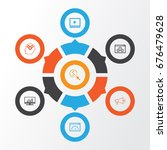 advertising icons set.... | Shutterstock .eps vector #676479628