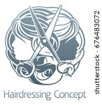 hair salon stylist hairdresser... | Shutterstock .eps vector #676483072