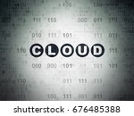 cloud technology concept ... | Shutterstock . vector #676485388