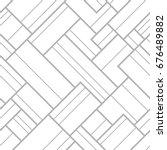 seamless pattern with geometric ... | Shutterstock .eps vector #676489882