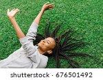 the above outdoor portrait of...   Shutterstock . vector #676501492