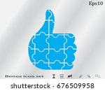 thumbs up puzzle icon  vector... | Shutterstock .eps vector #676509958