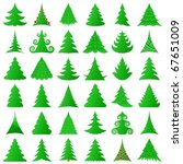 christmas trees collection | Shutterstock .eps vector #67651009