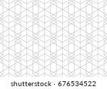 seamless pattern abstract... | Shutterstock .eps vector #676534522