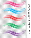 vector colorful wave set... | Shutterstock .eps vector #676536562