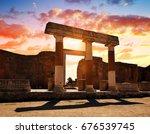 Ancient City Of Pompeii  Italy...