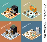 isometric design concept with... | Shutterstock .eps vector #676539862