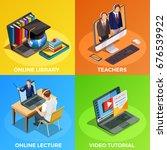 online education isometric... | Shutterstock .eps vector #676539922