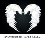 Wings. Vector Illustration On...