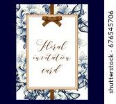 vintage delicate invitation... | Shutterstock . vector #676545706