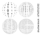 four binary balls  vector... | Shutterstock .eps vector #676551532