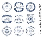 bike rent label and badges... | Shutterstock . vector #676556386