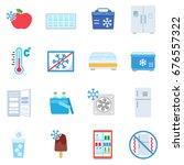 fridge. icon set in flat style. ... | Shutterstock .eps vector #676557322