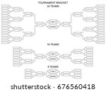 tournament bracket for 32  16... | Shutterstock .eps vector #676560418