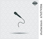 microphone web icon  flat design | Shutterstock .eps vector #676574506
