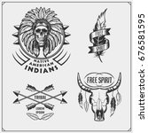 Set Of American Indian Labels ...