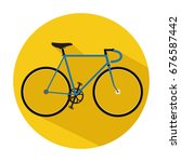 bicycle icon. bicycle vector on ... | Shutterstock .eps vector #676587442