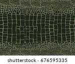 crocodile pattern | Shutterstock .eps vector #676595335