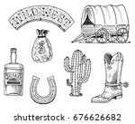 wild west  rodeo show  sheriff  ... | Shutterstock .eps vector #676626682
